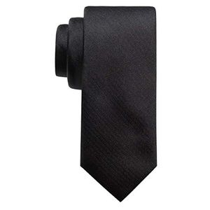 *4/$12* NWT! Chaps Men's Classic Solid Tie Black
